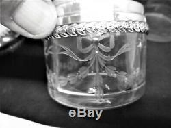 Flacons Toilette Parfum Poudrier Cristal Argent Crystal Silver Bottle Perfume