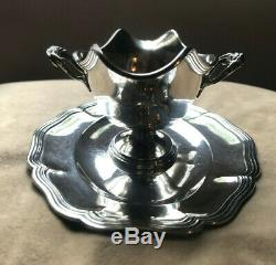 French STERLING SILVER Sauce Boat LOUIS XV style XXth c SAUCIERE ARGENT massif
