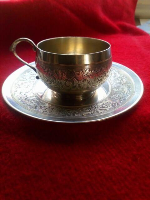 French Sterling Silver Coffee Cup 1884. Tasse à Café Argent Massif Minerve