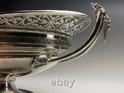 GORHAM SILVER USA Coupe sur piédouche en argent massif 1,1 kg C. 1872