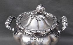 GRAND SUCRIER EN ARGENT MASSIF POINCON MINERVE (silver suagr bowl)