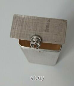 GUCCI vintage solid silver 800 cigarette case rare étui cigarette argent massif