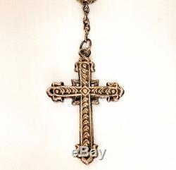 Grand Chapelet Argent Massif Et Grenats Garnets & Silver Rosary France 19e S