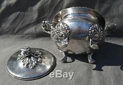 Grand Sucrier En Argent Massif Minerve Decor Louis XV Silver Sugar Bowl