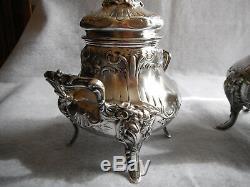 Grand sucrier en Argent Massif silver poinçon Minerve décor Louis XV
