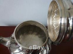 Grande Théière Argent Massif Minerve Louis XV 671 Gr Tea Pot Solid Silver 19th