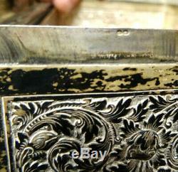 Grosse lourde boite ASIA SILVER Wiet indochine thai, china, 675 gr brut