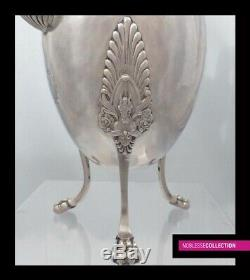 HEAVY 822g ANTIQUE FRENCH STERLING SILVER COFFEE POT 28,8 cm PARIS 1809-1819