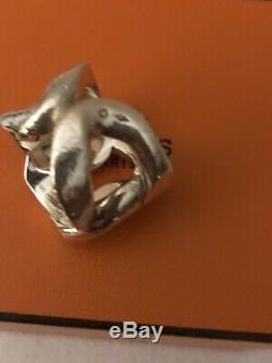 Hermes Ring Modèle CAPTURE / Bague en argent 925 Taille 55 Silver925