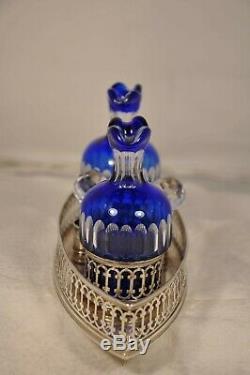 Huilier Vinaigrie Ancien Argent Massif Art Deco Antique Solid Silver Oil Vinegar