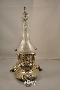 Huilier Vinaigrier Ancien Argent Massif Minerve Antique Oil Vinegar S Silver Set