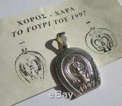 Ilias LALAOUNIS pendentif 1997 Porte bonheur Argent massif 6,5g silver charm