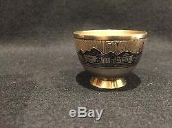 Imperial Russian Niello Silver 84 Eggcup Argent Russe Nielle Wigstrom Henrik