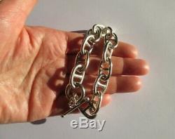 Important bracelet maillons Chaîne dAncre Argent massif 925 31g Silver