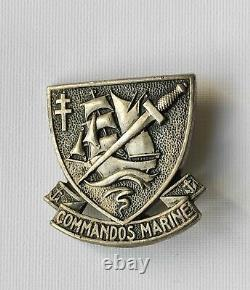 Insigne Commando Marine Argent Massif Arthus Bertrand French Solid Silver Badge