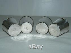 LOT 4 GOBELETS ARGENT MASSIF XVIIIe FERMIERS GENERAUX TIMBALE SILVER CUP