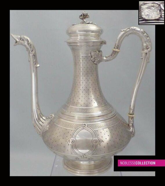 Lovely Antique 1880s French All Sterling Silver Coffee/tea Pot 576g Napoleon Iii