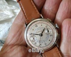 Landeron 39 chronographe argent massif all solid silver