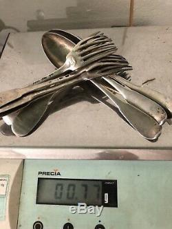 Lot 770gr Argent Massif XVIIIeme Fermiers Généraux Poinçon Ancien Silver French