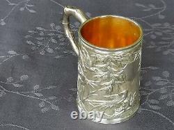 Luen Wo Chinese Export Silver Cup Of Shangai C1900 Argent Massif Chine Mug