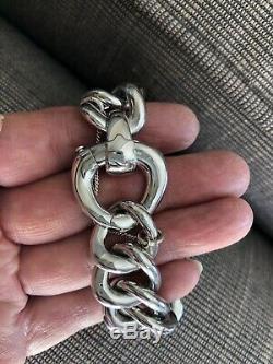 MONTBLANC Important Bracelet chaine argent massif / sterling silver bracelet