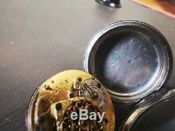 MONTRE A COQ ARGENT SOLID SILVER POCKET WATCH. Miniature 30mm signée Jodin Paris