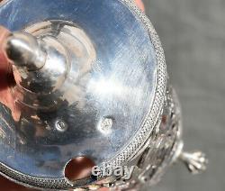 MOUTARDIER Argent Massif Poincon COQ Style Louis XVI Solid Silver Mustard pot