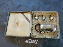 Matsuya Service A Sake En Argent Massif Periode Meiji Fin XIX Japanese Silver
