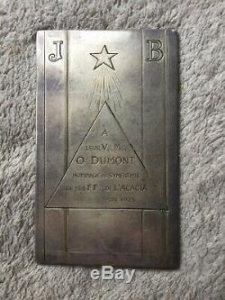 Médaille Argent Massif Maçonique 1925 par Dammann RARE in Silver
