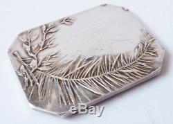 Médaille argent massif ART NOUVEAU signé silver medal Monnaie de Paris peinture