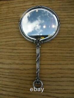 Miroir Face à Main en Argent Massif Minerve Silver Silber Louis XVI