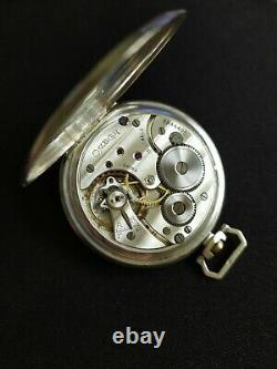 Montre Ancienne Gousset Omega Argent. Old Silver Pocket Watch. 37.6 Cal