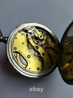 Montre Ancienne mécanique GOUSSET LONGINES CAL 19.95. OLD POCKET watch. SILVER