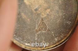 Montre Gousset Ancien Argent Massif Emaille Antique Enameled Solid Silver Watch