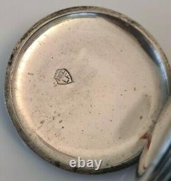 Montre Gousset Chronometre en Argent Massif Niellé Niello Silver Pocket Watch
