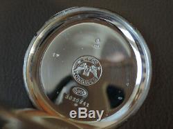Montre Gousset LONGINES Savonnette argent massif calibre 19,74N pocket silver