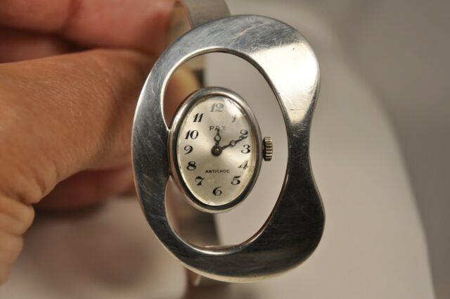 Montre Vintage Argent Massif Pax Solid Silver Watch 70's