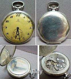 Montre à gousset OMEGA argent massif 19e s silver pocket watch fonctionne