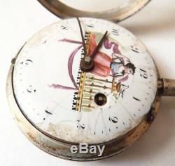 Montre à gousset à coq argent massif 18e siècle silver pocket watch18th century