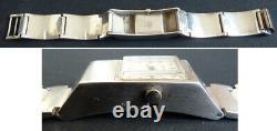 Montre bracelet femme en ARGENT massif BEUCHAT mécanique silver watch 70 g