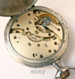 Montre de gousset en argent massif chronomètre LIP v. 1900 silver pocket watch