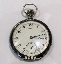 Montre de gousset en argent massif niellé DYPSA niello solid silver pocket watch