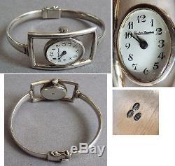Montre femme ARGENT massif CONSTANT BEUCHAT mécanique silver watch fonctionne