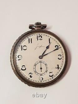 Montre gousset antique Junghans argent massif/silver pocket watch mécanique 48mm