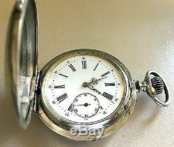 Montre gousset savonnette argent massif. Silver hunting pocket watch