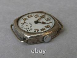Montre militaire de poilu ww1 argent massif french trench watch 1915 silver case