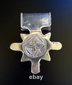 Morocco Mauritania Rare large granulated cross Boghdad in sterling silver