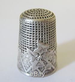 NECESSAIRE A COUTURE ARGENT MASSIF ciseaux dé à coudre solid silver sewing set