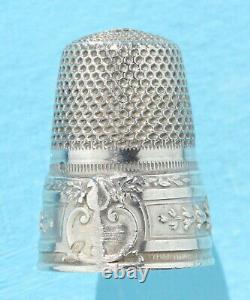 Nécessaire de couture ancien ARGENT ciseaux poinçon Sewing silver à coudre écrin
