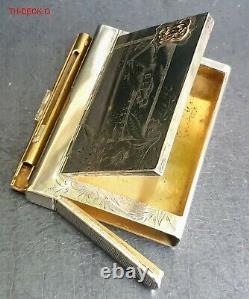 Ovchinnikov Boite Cigarettes Argent 84 & Or Silver Russian Case Vesta Gold 1896